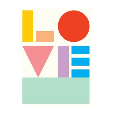 East End Prints 'Love' by Dicky Bird Typography