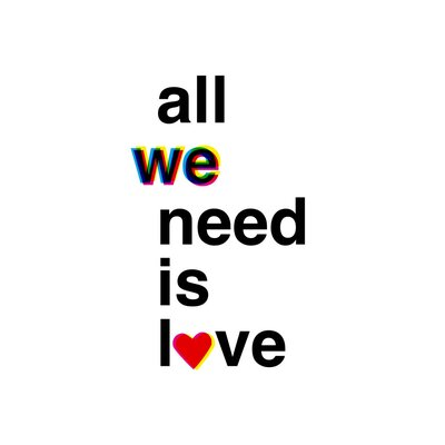 East End Prints 'All We Need is Love' by Coni Della Vedova Typography