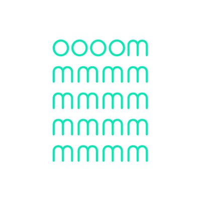 East End Prints 'Ommm' by Coni Della Vedova Typography