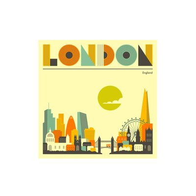 East End Prints 'London, England' by Jazzberry Blue Graphic Art