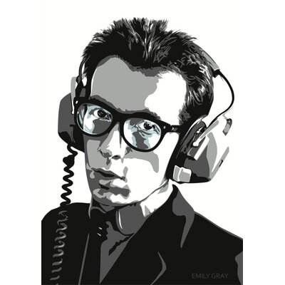 East End Prints 'Elvis Costello' by Emily Gray Graphic Art