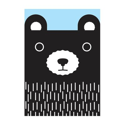 East End Prints 'Pastel Bear' by Dicky Bird Graphic Art