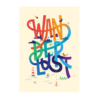East End Prints 'Wanderlust' by Chris Wharton Typography