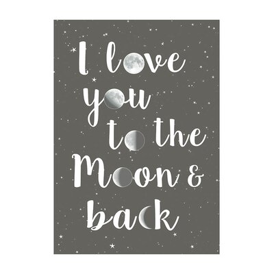 East End Prints Moon and Back Typography