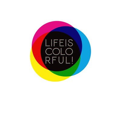 East End Prints 'Life is Colourful' by Coni Della Vedova Typography