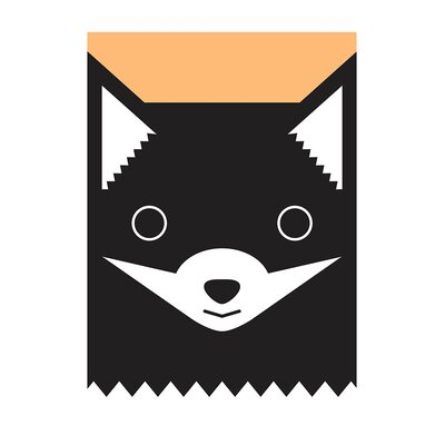 East End Prints 'Pastel Fox' by Dicky Bird Graphic Art
