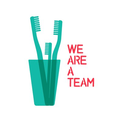 East End Prints 'We Are a Team' by Coni Della Vedova Graphic Art
