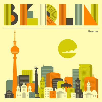 East End Prints 'Berlin' by Jazzberry Blue Graphic Art