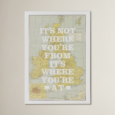 East End Prints British Map Graphic Art