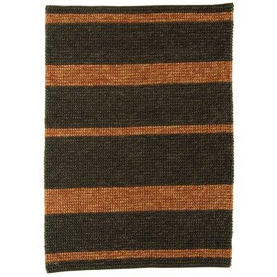 Asiatic Carpets Ltd. Jute Loop Hand-Woven Charcoal Red Rug