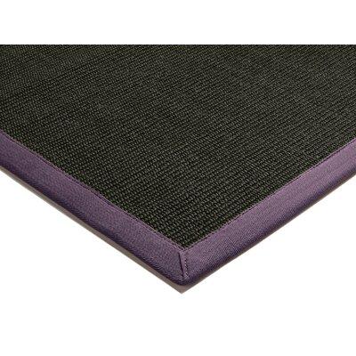 Asiatic Carpets Ltd. Bordered Sisal Black and Purple Area Rig