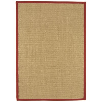 Asiatic Carpets Ltd. Bordered Sisal Linen/Red Area Rug