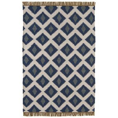 Asiatic Carpets Ltd. Kelim Jeff Banks Handwoven Rug in Diamond Blue