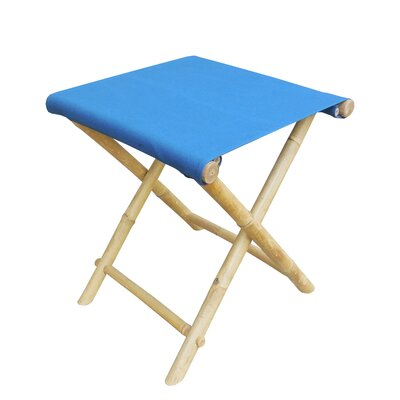 Bamboo Indoor / Outdoor Folding Stool Color: Navy