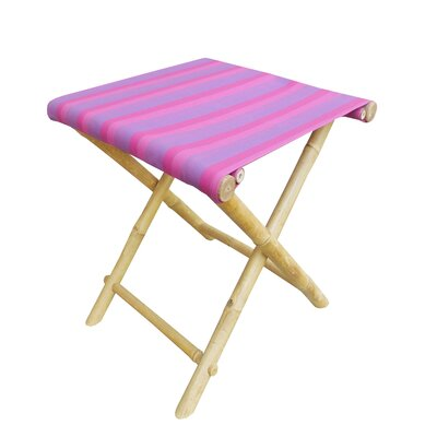 Bamboo Indoor / Outdoor Folding Stool Fabric: Fuchsia