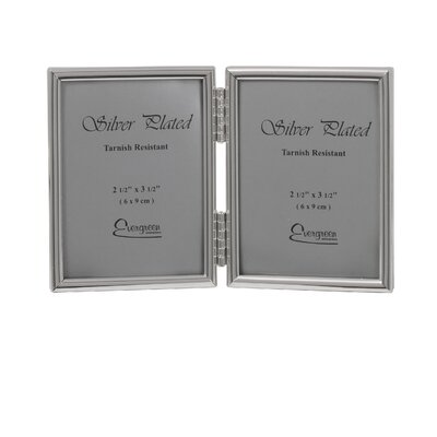Evergreen Thin Edge Double Photo Frame