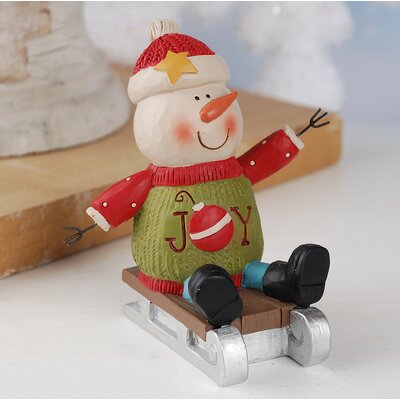 Joy Snowman Figurine