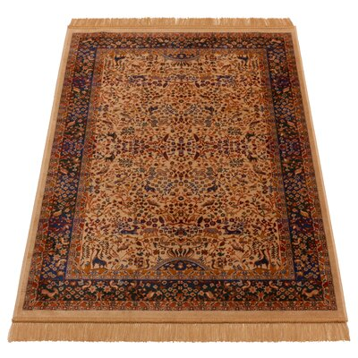 Barefoot Artsilk Rugs Persian Tree of Life Hand-Woven Brown Area Rug