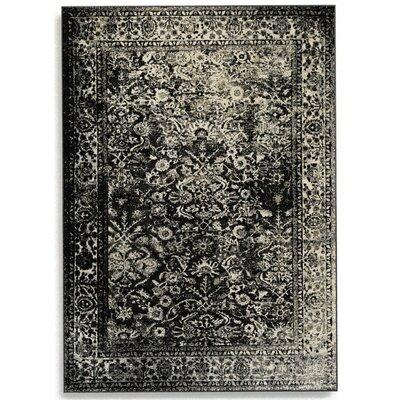 Barefoot Artsilk Rugs Afghan Slate Grey Area Rug