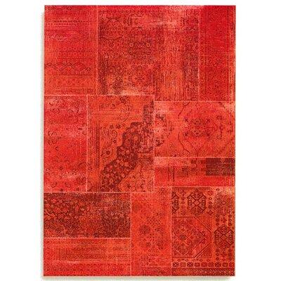 Barefoot Artsilk Rugs Patchwork Red Area Rug