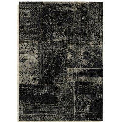 Barefoot Artsilk Rugs Patchwork Black/Silver Area Rug