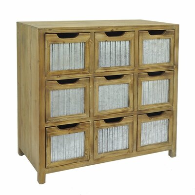 Arpita Wood Metal 9 Drawer Accent Chest