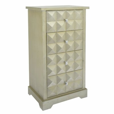 Jauregui Stylish Wooden 4 Drawer Accent Chest