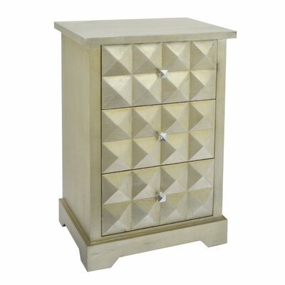 Jelissa Wood 3 Drawers Accent Chest