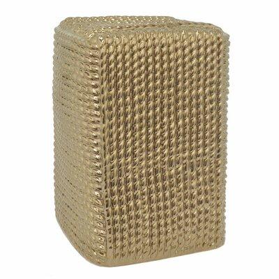 Philomena Ceramic Accent Stool Color: Gold