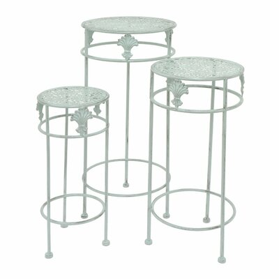 Marie-Anne 3 Piece Nesting Plant Stand Color: Green
