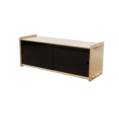 Key Accent Cabinet Color: Black, Finish: Maple