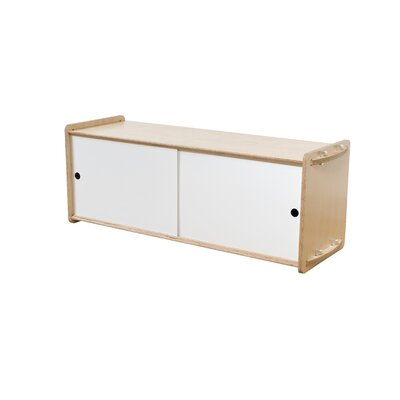 Key Accent Cabinet Color: White, Finish: Maple