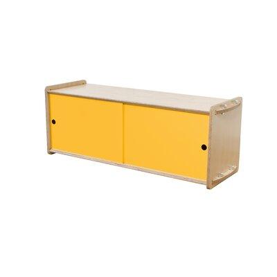Key Accent Cabinet Finish: Maple, Color: Saffron Yellow