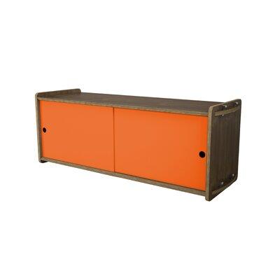 Key Accent Cabinet Finish: Walnut, Color: Orange