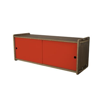 Key Accent Cabinet Finish: Walnut, Color: Red