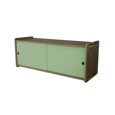 Key Accent Cabinet Finish: Walnut, Color: Sage Green