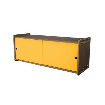 Key Accent Cabinet Finish: Walnut, Color: Saffron Yellow