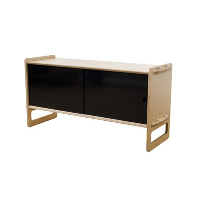Key Accent Cabinet Finish: Maple, Color: Black