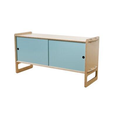 Key Accent Cabinet Finish: Maple, Color: Light Blue