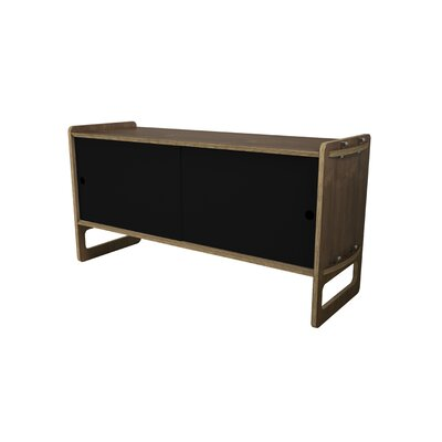 Key Accent Cabinet Color: Black, Finish: Walnut