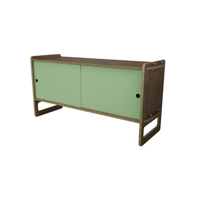 Key Accent Cabinet Color: Sage Green, Finish: Walnut