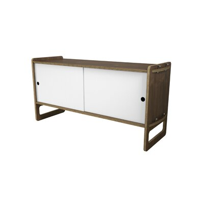 Key Accent Cabinet Color: White, Finish: Walnut