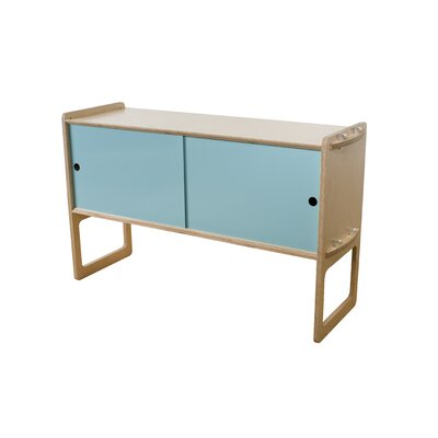 Key Accent Cabinet Finish: Maple, Color: Light Blue