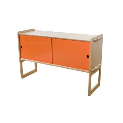 Key Accent Cabinet Finish: Maple, Color: Orange