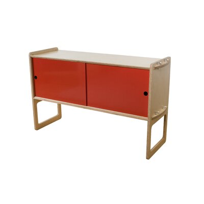 Key Accent Cabinet Finish: Maple, Color: Red