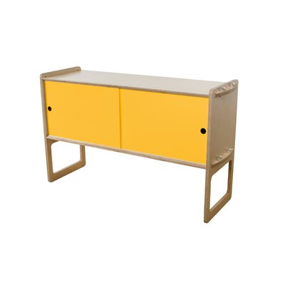 Key Accent Cabinet Finish: Maple, Color: Saffron Yellow