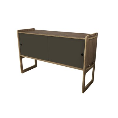 Key Accent Cabinet Color: Warm Gray, Finish: Walnut