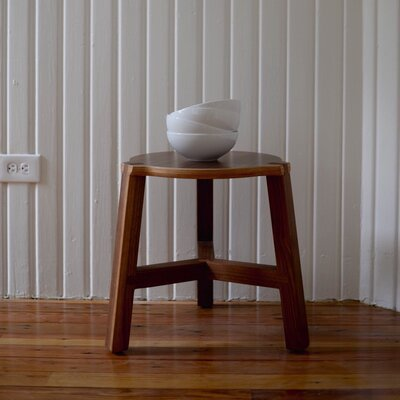 "Tercet 17.5"" Stool Finish: Walnut"
