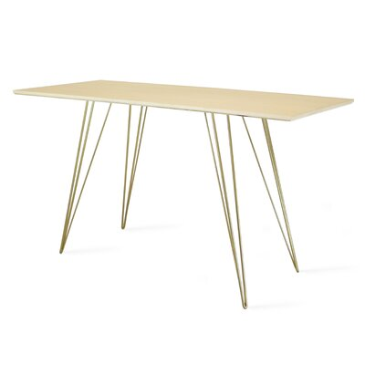 Williams Writing Desk Color: Brass