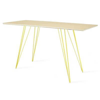 Williams Writing Desk Color: Yellow